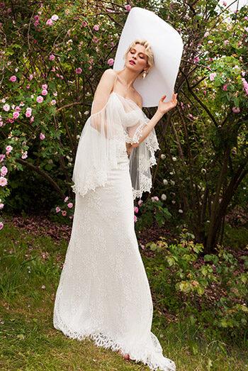 Suknia ślubna - SP2174 + BOLERKO - kolekcja  2021
